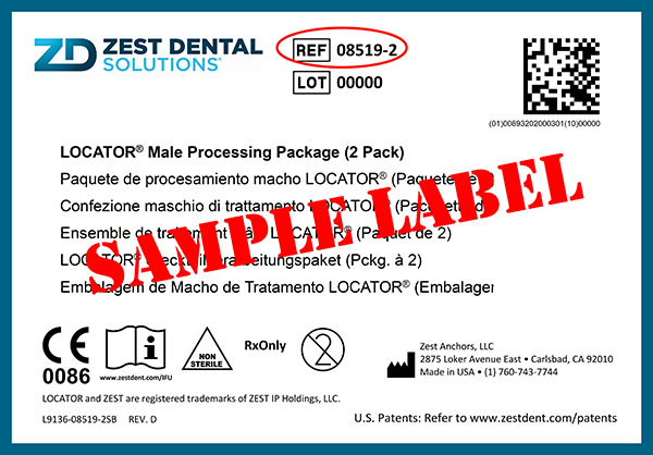 FINDING REF CODE ON THE ZDS PRODUCT LABEL SAMPLE